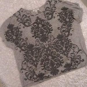 dressbarn Tops - ⬇️Dressbarn Sparkly Bling Silver Sparkle Thread